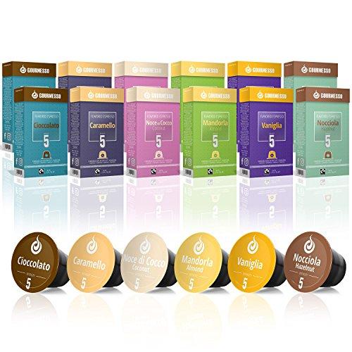 Gourmesso Caja de sabores - 120 cápsulas de café compatibles con cafetera Nespresso *