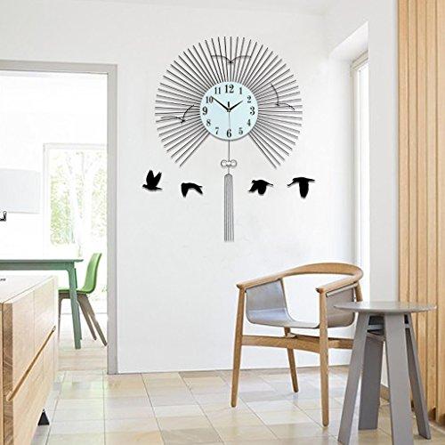 settore Stile europeo Orologio da parete Orologio al quarzo decorazione  Orologio da parete camera da letto muto Tavolo appendente mestieri