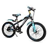 Vélo for Enfants VTT for Les 7-10-15 Ans Vélos De 18 Pouces Vélos for Garçons Et Filles (Color : Blue, Size : 18 inches)