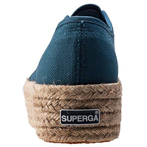 Superga 2790 Cotropew, Baskets de plate-forme mixte adulte blue