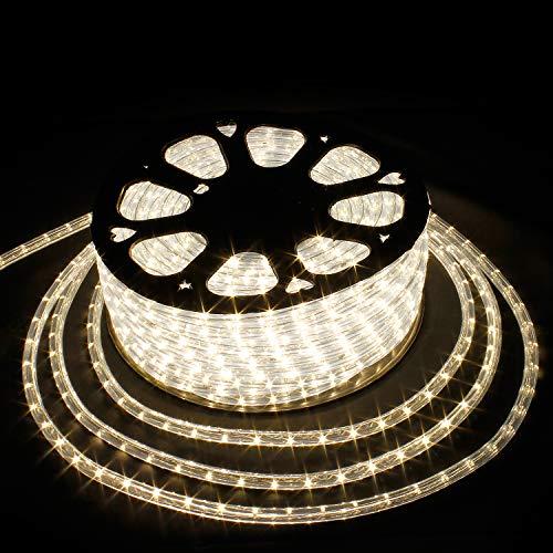 SPEED 50Meter LED Lichterschlauch Lichterkette Schlauch Leiste Außen und Innen Warmweiß