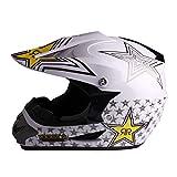 Larcele Fuori Strada sterrata moto da cross del casco SDYYK-01 (XL, Bianco)