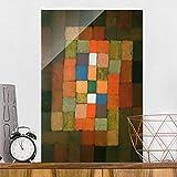 Bilderwelten Glasbild - Kunstdruck Paul Klee - Statisch-Dynamische Steigerung - Expressionismus Hoch 3:2, Wandbild Glas Bild Druck auf Glas Glasdruck, Größe HxB: 60cm x 40cm