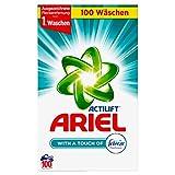 Ariel Vollwaschmittel mit Febreze Pulver, 1er Pack (1 x 100 Waschladungen)