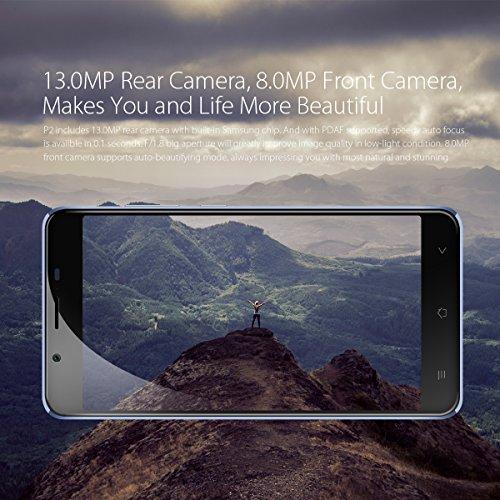 Blackview P2 Teléfonos Móviles Libres - 6000mAh batería Smartphone libre Dual SIM (Octa Core, 4GB RAM, 64GB ROM, 13MP Cámara, 5.5 FHD Pantalla) Android 6.0 4G Móviles libres Chinos - color azul