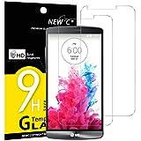Panzerglas LG G3, [2 Stück] NEWC® Tempered Glass 9H Härte, Frei von Kratzern Fingabdrücken und Öl, HD Displayschutzfolie, 0.33mm Ultra-klar, panzerglas schutzfolie für LG G3