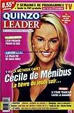 QUINZO LEADER [No 12] - FLAVIE - BENJI - LEUR 1ER PRIME EN DUO - LES EXPERTS - LA VRAIE VIE DE SARA SIDLE - LA METHODE CAUET - CECILE DE MENIBUS - RUGBY - LE STADE FRANCAIS CASSE LA BARAQUE - NICOLE RICHIE