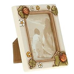 Idea Regalo - THUN C1984H90 Portafoto da Parete/Appoggio Portafortuna, Ceramica, Multicolore, 18 x 21 x 5.9 cm
