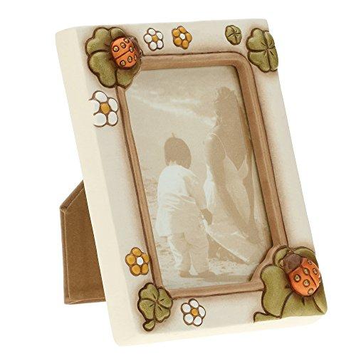 Thun c1984h90 portafoto da parete/appoggio portafortuna, ceramica, multicolore, 18 x 21 x 5.9 cm