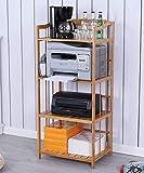 Chonusa Küche Lagerregal Regale Bambus Desktop Regal Drucker Lagerregal Kleine Kühlschrank Ofen Rack,53 * 38 * 118cm