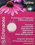 Optima Echinacea, Echinacea Purpurea Effervescente, 20 Compresse Limone