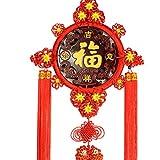 Fil de nylon tricoté à la main, noeud rond, décoration de vacances, décoration de voiture et décoration de la maison, rouge (style : B-4)...
