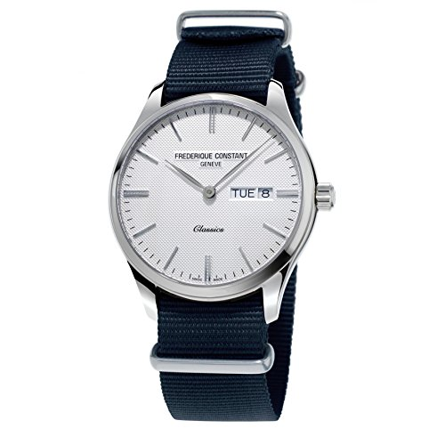 Frederique Constant Geneve Classics Quartz FC-225ST5B6 Reloj de Pulsera para hombres Con pulsera adicional