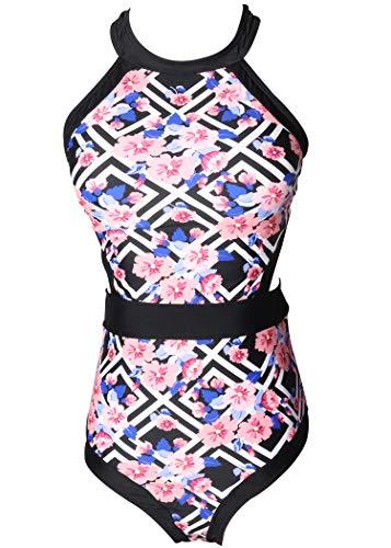 AOQUSSQOA Damen Badeanzug Mädchen einteiliger Badeanzug Schöner Badeanzug für Eltern und Kinder Retro Bikini-Set (Mutter : EU 34-36 (S),07)