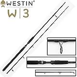 Westin W3 Powercast 248cm 3XH 60-180g Spinnrute Spinnrute für Hecht, Waller Angelrute zum Wallerangeln & Hechtangeln, 2-teilige Rute, Pilkrute zum Meeresangeln