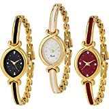 casera just like Analog Girl's Watch (Multicolored Dial, Assorted Colored Strap) (Pack of 3)