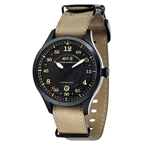 AV-4046-03 AVI-8 Hawker Hurricane Men's Automatic Watch with 2 Bracelets 43 mm