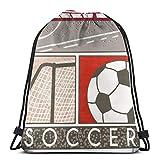 Drempad Tunnelzug Rucksäcke, Drawstring Bag Bundle Backpack Cinch Sacks Bulk Sackpack Soccer Field Game Fans Home School Hiking Travel Bag