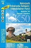 UK50-10 Naturpark Fränkische Schweiz-Veldensteiner Forst, nördl.Teil: Bayreuth, Kulmbach, Lichtenfels, Scheßlitz, Hollfeld, Waischenfeld, Weismain, ... Karte Freizeitkarte Wanderkarte) - Landesamt für Digitalisierung  Breitband und Vermessung  Bayern