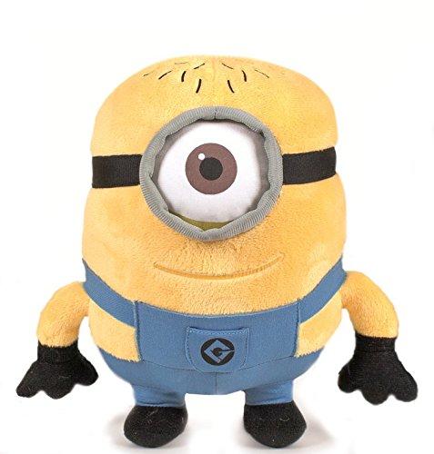 Phil Minion 27cm aprox. Muñeco Peluche Gru 2 mi villano favorito Pelicula Amarillo Gafas Super Soft Suave…