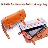Dovlen Nuovo Frizioni Borsa Borse Spalla Borse per Donna, Antiurto Durevole Portatile pelle Tela Borsa Custodia per Nintendo Switch