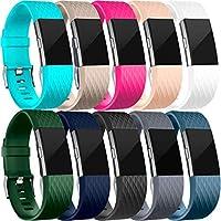 HUMENN Correa para Fitbit Charge 2, Edición Especial Deportes Recambio de Pulseras Ajustable Accesorios para Fitbit Charge 2 Pequeño #B-10-Pack