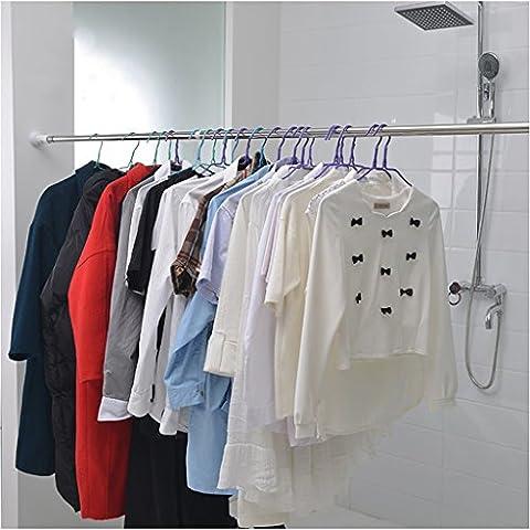 Barres de rideaux de douche en acier inoxydable barres télescopiques barres de rideaux bâtons de salle de bain en acier inoxydable ( taille : 50-80cm )