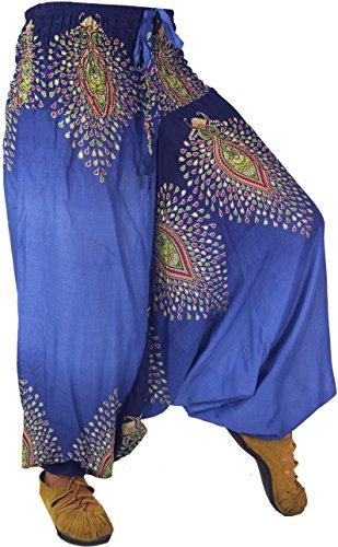 Guru-Shop -  Pantaloni  - Donna Blau