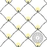 Nexos Lichternetz Solar 105 LED warm weiß Pavillon Beleuchtung mit Blinkfunktion 2,1 x 1,15 m grünes Kabel Gartenbeleuchtung Solarlichterkette Außenlichterkette