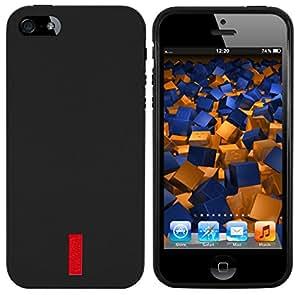 Mumbi Coque en Silicone pour Apple iPhone 5/5S Noir