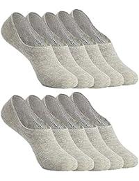 YOUCHAN Calcetines Mujer Hombre 10 Pares Tobilleros Invisibles Antideslizante Algodon Silicona Calcetines Verano