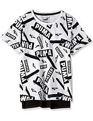 Puma Sports Style Maglietta a Manica Corta - Bianco (Bianco) ,L