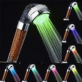 AIMENTE Alcachofa de ducha negativo cloro Filtro iónico LED multicolore