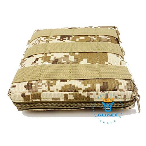 15x 15cm Ultra-Multifunktions Survival Gear Tactical Beutel MOLLE-Tasche, Outdoor Camping Tragbare Travel Bags Handtaschen Werkzeug Taschen Taille Tasche Handytasche DDC