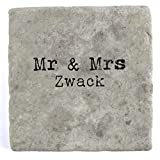 Mr & Mrs Zwack - Set of Four Marble Tile Drink Coasters