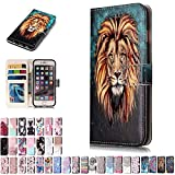 LA-Otter Coque Apple iPhone 7 Plus 8 Plus Lion Flip Case Housse Etui à Rabat Folio...