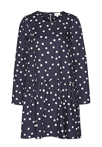 ARMEDANGELS Damen Tencel® Kleid - Enda Bubble Dots - XS navy-white (Schuhe Kleid Bubble)