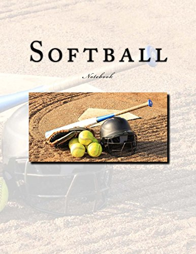 Softball Notebook: Notebook with 150 lined pages por Wild Pages Press