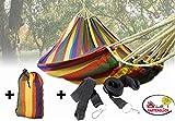Gartenglück Hängematte Mehrpersonen mit Befestigungsset (220 x 160 cm | in verschiedenen Farben | max 200 kg | inkl. Transportbeutel)