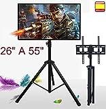 Soporte de Suelo para TV LCD led 4K Smart 3D televisor 26' a 55' inclina y Gira