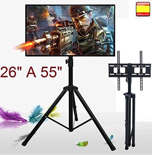 """Soporte de suelo para tv lcd led 4K smart 3D televisor 26"""" a 55"""" inclina y gira"""
