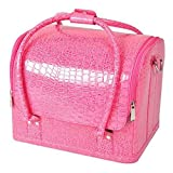 Yahee Koffer Kosmetikkoffer Schminkkoffer Kosmetiktasche beauty case schminkkoffer (Krokos rosa)