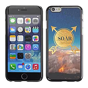Omega Covers - Snap on Hard Back Case Cover Shell FOR Iphone 6/6S (4.7 INCH) - Quote Motivational Gold Nature Sky