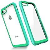 Slynmax Coque iPhone 8 Vert Coque iPhone 7 Housse Luxe Transparente Souple Fine TPU...