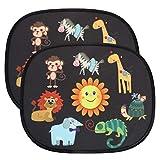 URAQT Tendine Parasole Auto Bambini, 2 Pezzi Tendina Parasole auto Universali, Parabrezza auto per bambini Baby Pet raggi UV/Protezione solare Animale