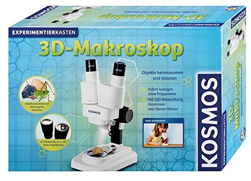 Kosmos 634407 Microscopio Juguete y Kit de Ciencia para niños - Juguetes y Kits de Ciencia para niños (Biología, Microscopio, 8 año(s), Niño/niña, Gris, 485 mm)