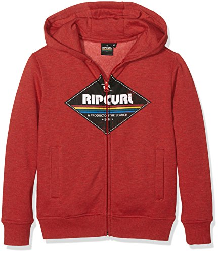 Rip Curl Diamond in pile a 1/2 zip da ragazzo Pompeian Red
