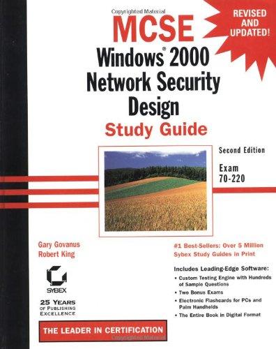 MCSE: Windows 2000 Network Security Design Study Guide