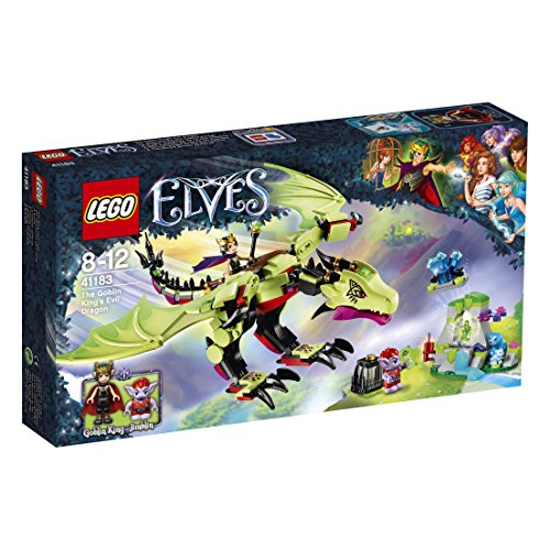 LEGO – 41183 – Elves – Jeu de Construction – Le Dragon maléfique du Roi des Gobelins