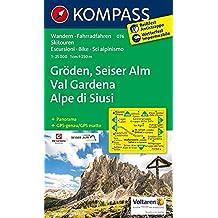 Carta escursionistica n. 076. Val Gardena-Alpe de Siusi 1:25.000. Adatto a GPS. Digital map. DVD-ROM